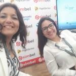 Trabajando codo a codo en el stand con Stefy, de Simbel Perú!